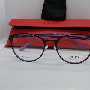 Brand New Authentic Guess Eyeglass GU3011 BLK/PURP